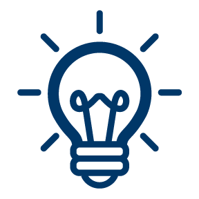 Icon of a light bulb